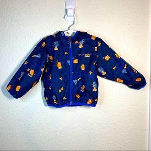 Columbia Omni Wick Full Zip Hooded Jacket Rare 2T
